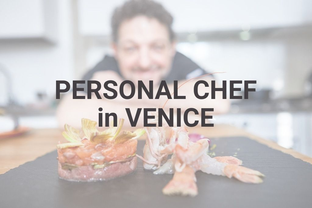 Professional chef catering for tourists in Venice